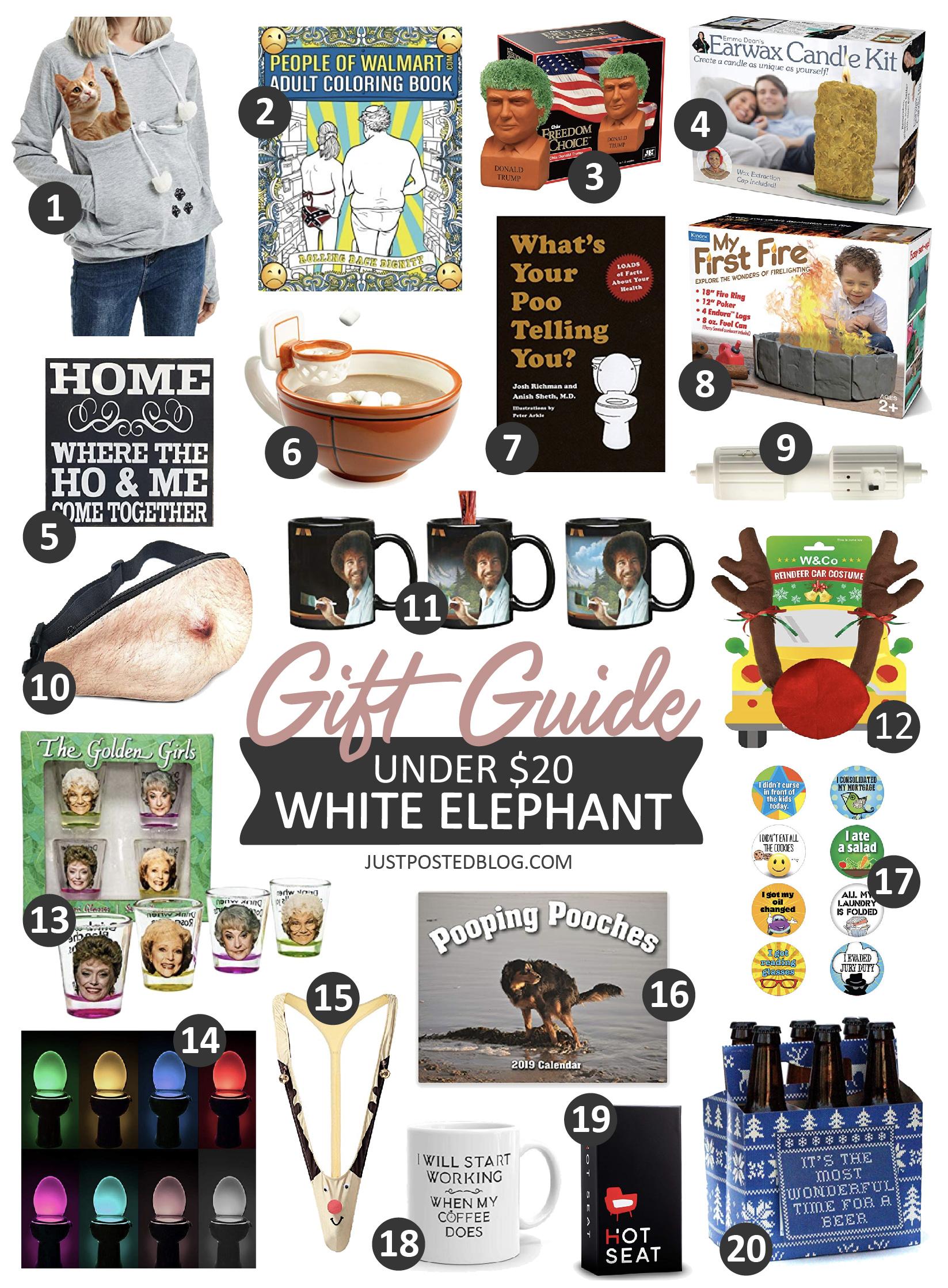 White Elephant Gift Ideas 2019 20 Under $20 White Elephant Gift Ideas – Just Posted